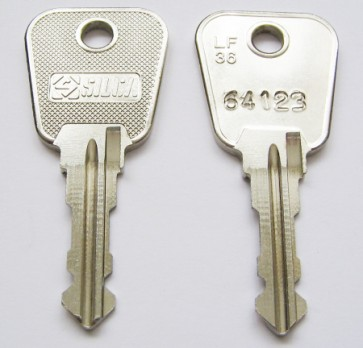 Two keys with Codes on white background